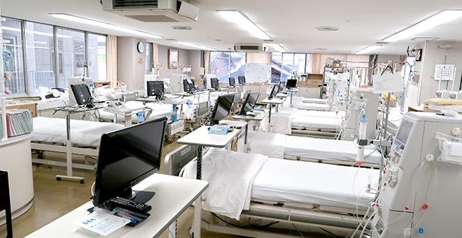 透析センター内ベッドの写真