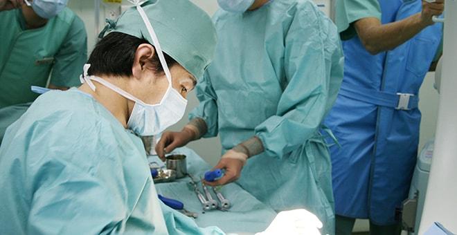 手術中の写真