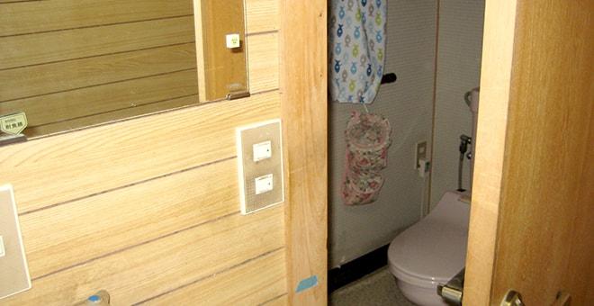 ご自宅でのトイレ動作訓練の写真
